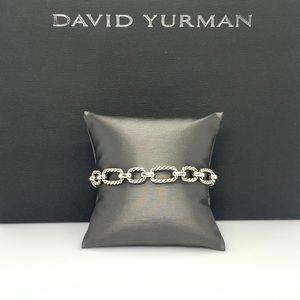David Yurman Cushion Link Bracelet w/Blue Sapphire